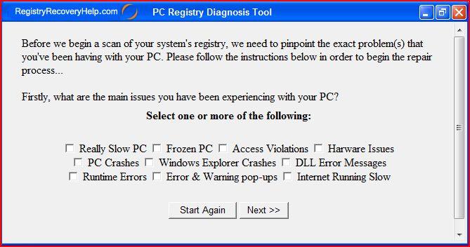 Registry Repair Tool screenshot